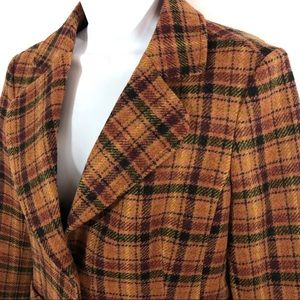 Halogen Wool Plaid Career Blazer size medium